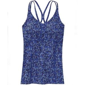 ATHLETA empowerment strappy floral workout athletic tank top size small